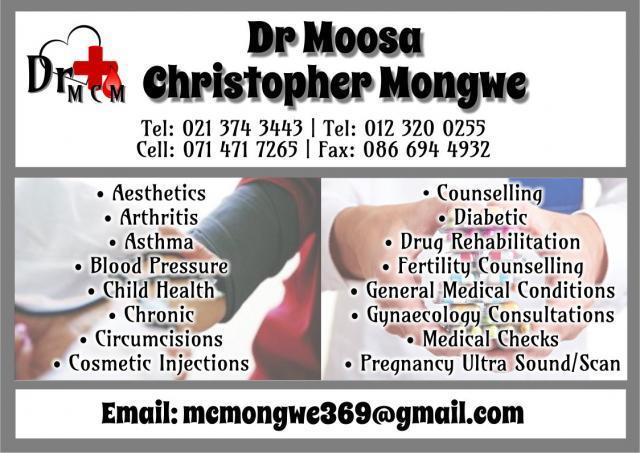 Dr Moosa Christopher Mongwe