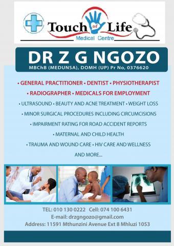 Dr ZG Ngozo