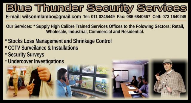 Blue Thunder Security Services - Business Directory