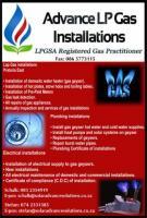Advance LP Gas Installation LPGSA Registered Gas Practitioner