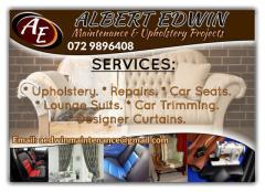 Albert Edwin Maintenance & Upholstery Projects