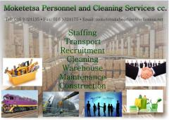Moketetsa Personnel and Cleaning Services cc.