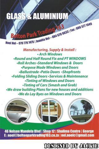 Nel's Glass & Alunimium, Belton Park Trading 163 (Pty) Ltd