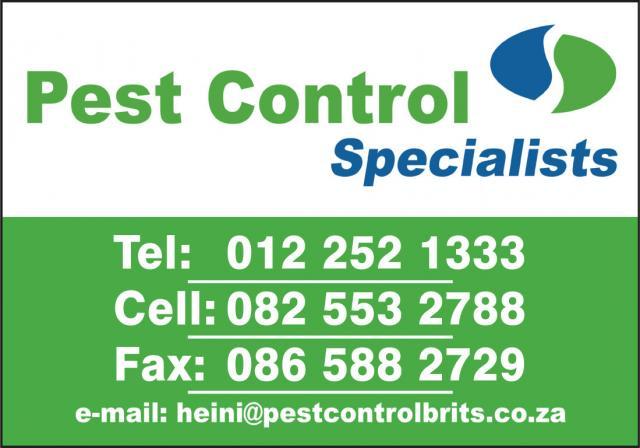 Pest Control Specialists - Harties, Brits, Thabazimbi