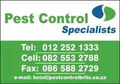 Pest Control Specialists - Harties, Brits, Thabazimbi