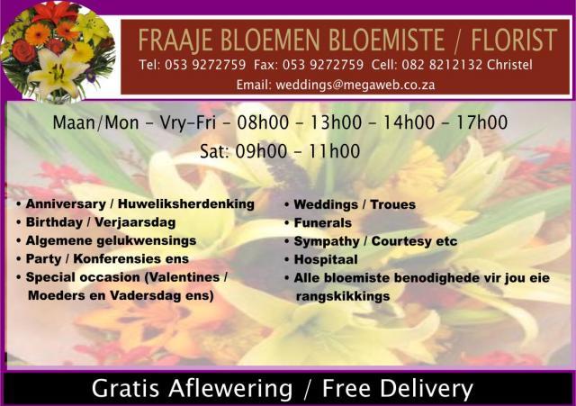 Fraaje Bloemen Bloemiste / Florist