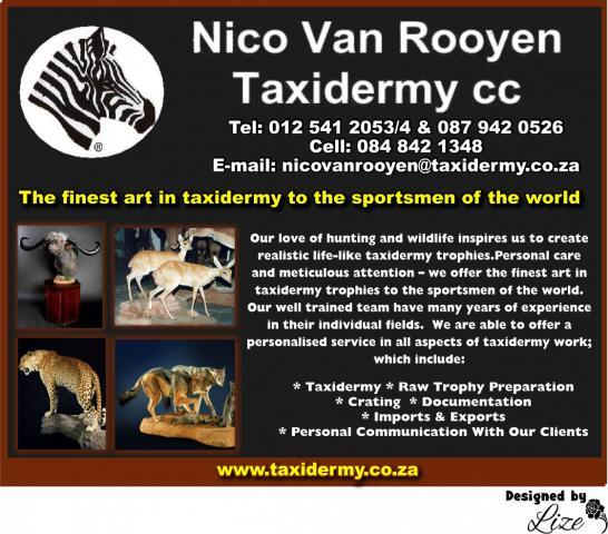 Nico van Rooyen Taxidermy