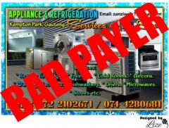 Appliance & Refrigeration Services on the Spot