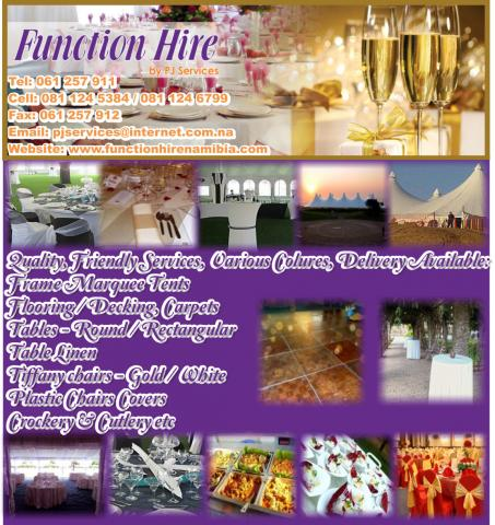 Function Hire Namibia