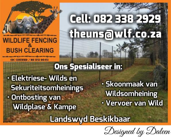 WILDLIFE FENCING & BUSH CLEARING