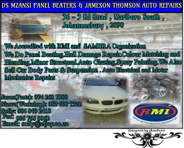 Ds Mzansi Panel Beaters & Jameson Thomson Auto Repairs