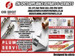 ON SPOT APPLIANCE REPAIRS &  SERVICES