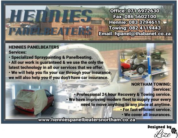 Hennies Panelbeaters & Northam Towing