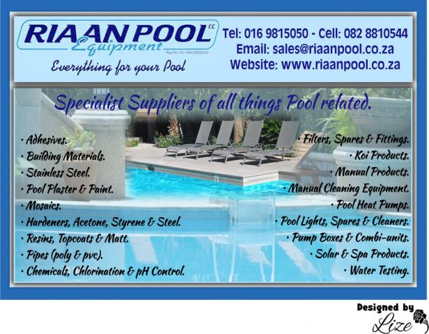 Riaan Pool Equipment Cc Vanderbijlpark Business Directory