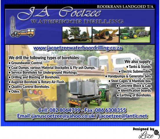 Rooikrans Landgoed t/a JA Coetzee Waterboor Drilling