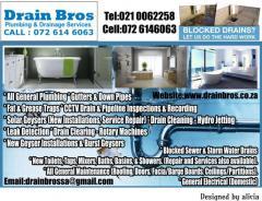 Drain Bros Plumbing & Drainage Services