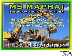 Ms Maphai Building Construction & Draughtsmen