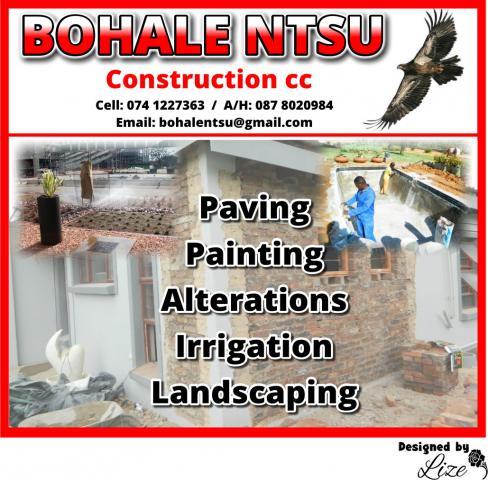 Bohale Ntsu Construction cc
