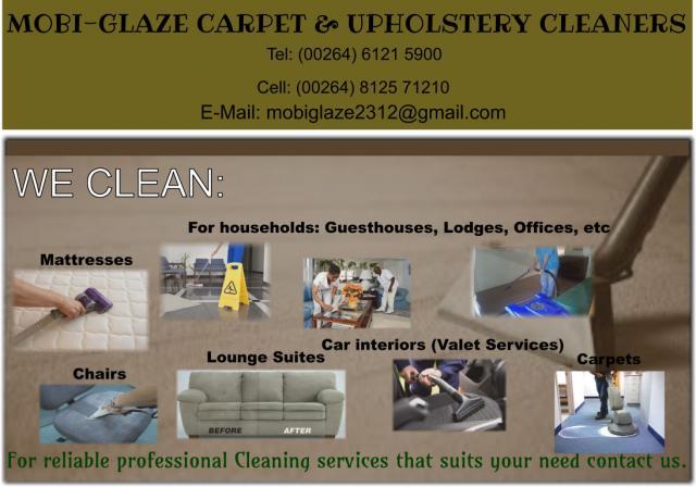 Mobi-Glaze Carpet & Upholstery Cleaners
