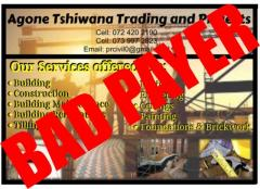 Agone Tshiwana trading Park and Projects