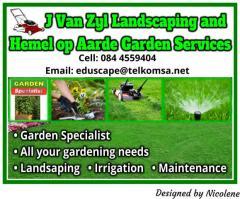 J Van Zyl Landscaping and Hemel op Aarde Garden Services