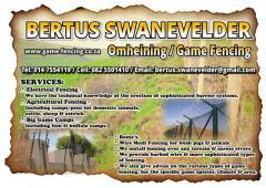 Bertus Swanevelder Omheining / Game Fencing