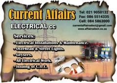 Current Affairs Electrical cc
