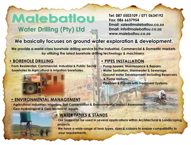 Malebatlou Water Drilling (Pty) Ltd