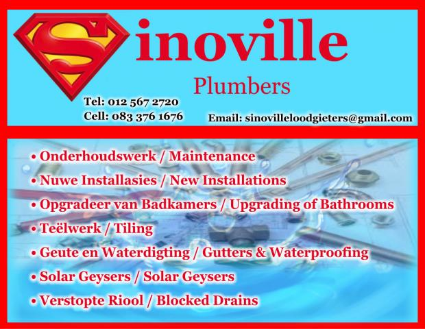 Sinoville Plumbers and Loodgieters