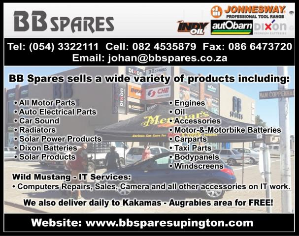 Bb Spares Upington Business Directory