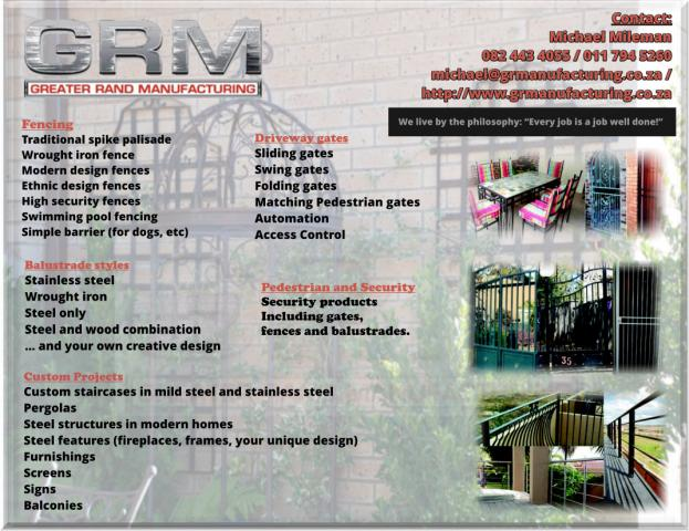 GRM - Greater Rand Manufacturing