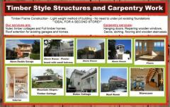 Timber Style Structures and Carpentry Work