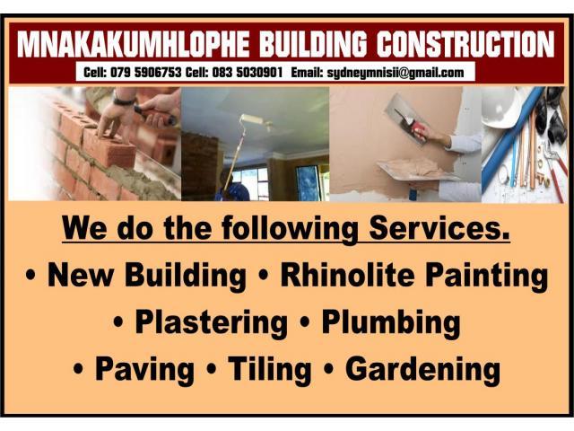 Mnakakumhlophe Building Construction