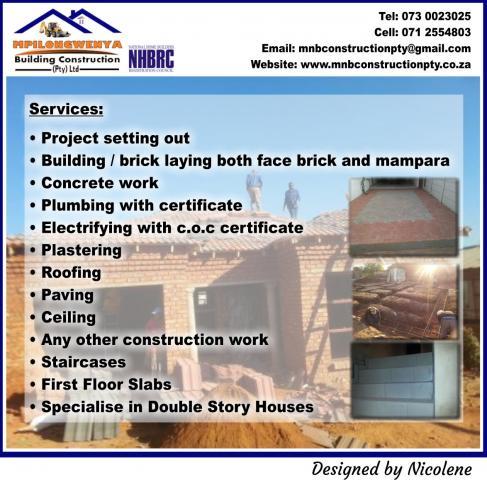 Mpilongwenya Building Construction Pty Ltd Pretoria