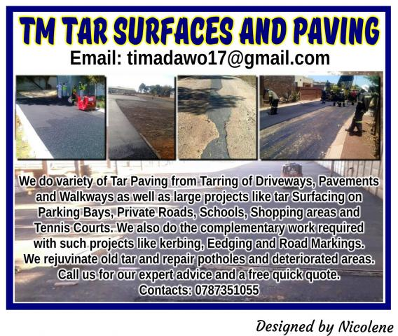 TM Tar Surfaces and Paving