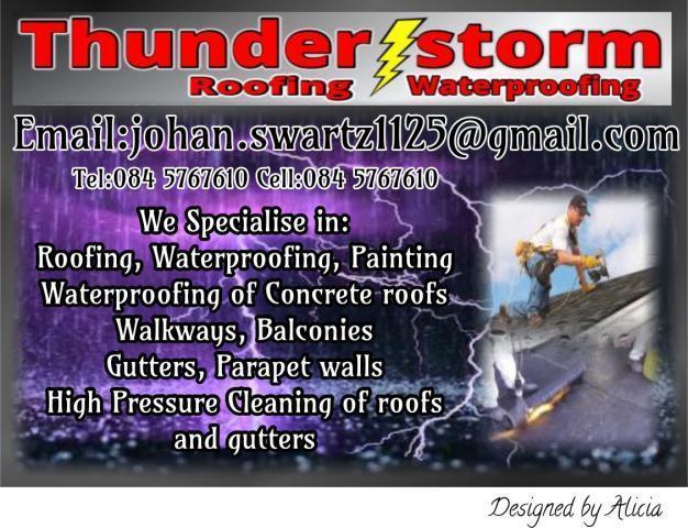 Thunderstorm Waterproofing Watergate Estate - Contractors