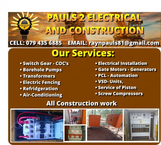Pauls 2 Electrical and Construction