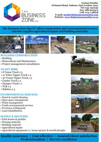 THE BUSINESS ZONE 852 CC - East London
