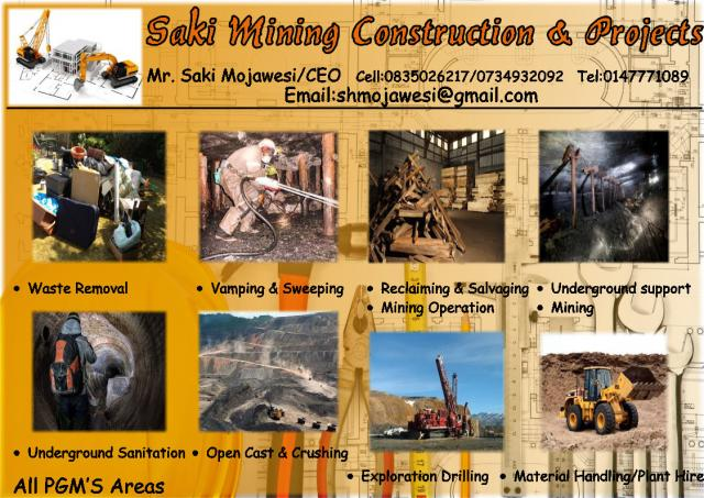 Saki Mining Construction & Projects
