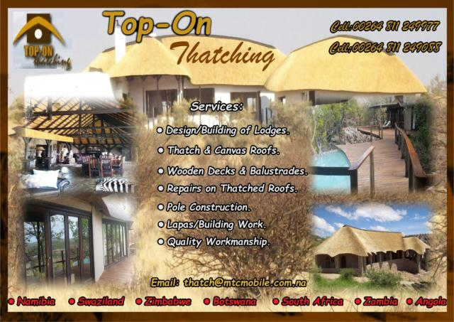 Thatching Contractors Namibia Contractors Directory