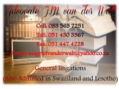 Advocate J.M Van der Walt
