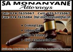 SA Monanyane Attorney