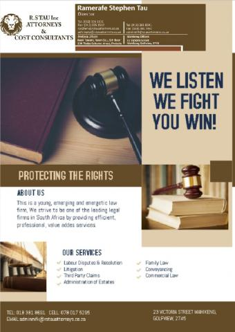 R S Tau Inc Attorneys & Cost Consultants