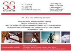 SS Tshakafa Attorneys