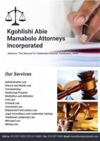 Kgohlishi Abie Mamabolo Attorneys incorporated
