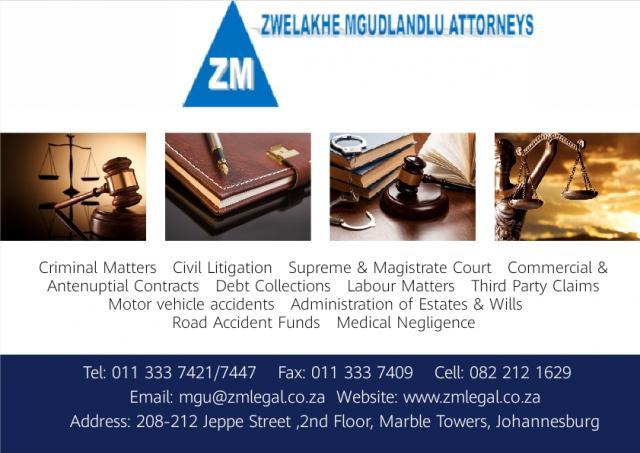 Zwelakhe Mgudlandlu Attorneys