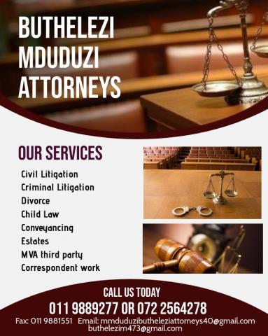 Buthelezi Mduduzi Attorneys in Soweto