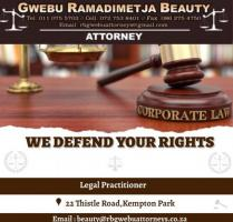 GWEBU RAMADIMETJA BEAUTY ATTORNEY